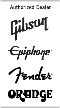 Authorized Gibson, Epiphone, Fender, Orange Dealer and other brand manufacturers.